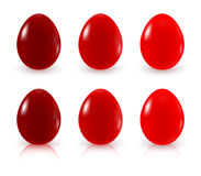 Red Painted Easter Eggs Stock Photos