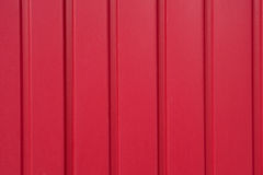 Red painted Garage door Stock Images