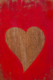 Red painted heart Stock Images