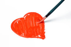 Red Painted Heart Royalty Free Stock Image