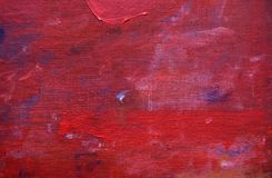 Red Painted Linen Canvas Art Background Stock Image