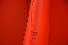 Red painted metal Stock Photography