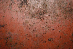 Red painted metal texture Stock Photography