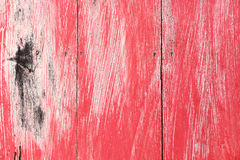 red painted on old wood for background and design Stock Photography