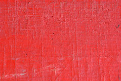 Red painted scratch wood Stock Photos