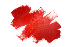 Red painted shape Stock Image