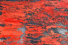 Red painted weathered background Stock Photo