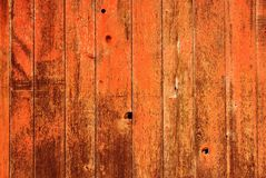 Red Painted Wood Background Stock Image