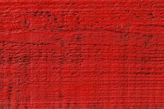 Red painted wood Stock Photography