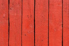 Red painted wood planks Stock Images