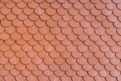 Red painted wood tiling roof wall texture background Royalty Free Stock Photography