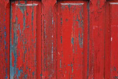 Red painted wooden door frame detail background Royalty Free Stock Image