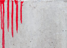 Red paintig concrete background Stock Images