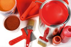 Red painting Royalty Free Stock Photo