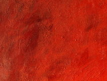 Red painting background. Red textured oil on canvas painting background stock image