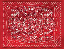 Red Paisley Handkerchief. A red paisley patterned handkerchief background with gradient mesh Stock Images