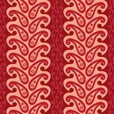 Red paisley ornament Stock Images