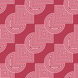 Red and pale pink geometric ornament. Seamless pattern Royalty Free Stock Image