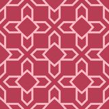 Red and pale pink geometric ornament. Seamless pattern Stock Photo