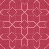 Red and pale pink geometric ornament. Seamless pattern. For web, textile and wallpapers Royalty Free Stock Photos