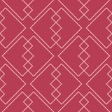Red and pale pink geometric ornament. Seamless pattern. For web, textile and wallpapers Stock Photography
