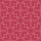 Red and pale pink geometric ornament. Seamless pattern. For web, textile and wallpapers Stock Photos