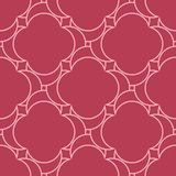 Red and pale pink geometric ornament. Seamless pattern. For web, textile and wallpapers Stock Images