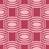 Red and pale pink geometric ornament. Seamless pattern. For web, textile and wallpapers Royalty Free Stock Photo