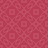 Red and pale pink geometric ornament. Seamless pattern. For web, textile and wallpapers Stock Image