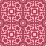 Red and pale pink geometric ornament. Seamless pattern. For web, textile and wallpapers Royalty Free Stock Image