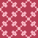 Red and pale pink geometric ornament. Seamless pattern. For web, textile and wallpapers Stock Photo