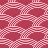 Red and pale pink geometric seamless pattern Stock Images