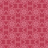 Red and pale pink geometric seamless pattern. For web, textile and wallpapers Royalty Free Stock Photography