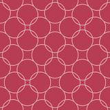 Red and pale pink geometric seamless pattern. For web, textile and wallpapers Stock Photos
