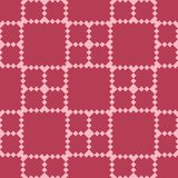 Red and pale pink geometric seamless pattern. For web, textile and wallpapers Stock Photo