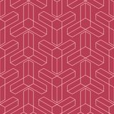 Red and pale pink geometric seamless pattern. For web, textile and wallpapers Royalty Free Stock Images