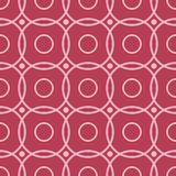 Red and pale pink geometric seamless pattern. For web, textile and wallpapers Royalty Free Stock Image