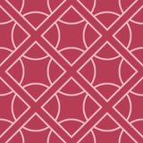 Red and pale pink geometric seamless pattern. For web, textile and wallpapers Stock Photography
