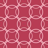 Red and pale pink geometric seamless pattern. For web, textile and wallpapers Stock Image