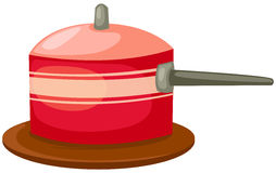 Red pan Stock Photo