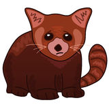 Red Panda. Сartoon image of a red panda vector illustration