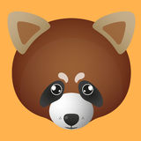 Red panda avatar Royalty Free Stock Images
