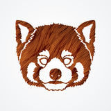 Red Panda Face head Stock Image