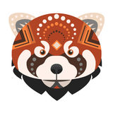 Red panda Head Logo. Fire fox Vector decorative Emblem. Stock Images