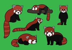 Red Panda Poses Stroke Cartoon Vector Illustration Royalty Free Stock Photos