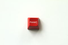 Red Panic Button Royalty Free Stock Photo