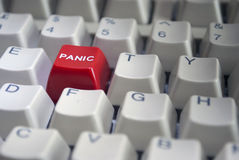 Red Panic button close-up Stock Images