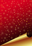 Red paper. With golden stars Royalty Free Stock Photo
