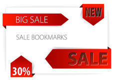Red paper arrows / sale tags Royalty Free Stock Photography
