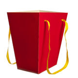 Red paper bag Royalty Free Stock Photography